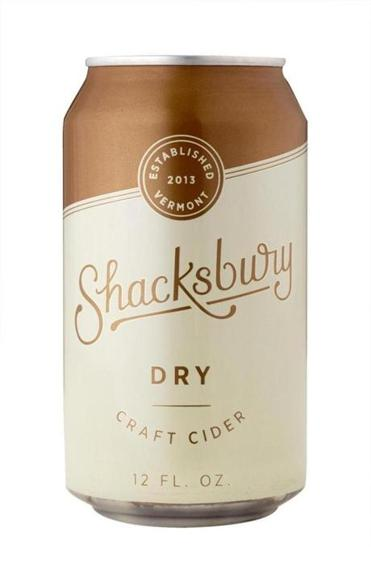 Dry Cider crafted by Shacksbury in Vergennes, Vt.