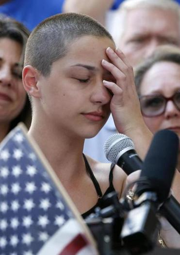Student Emma Gonzalez also spoke at the rally.