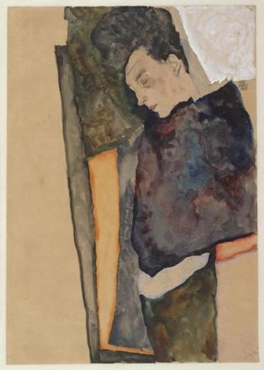 "Egon Schiele's ""The Artist's Mother, Sleeping"""