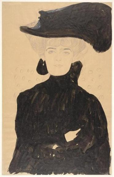 "Gustav Klimt's ""Lady with Plumed Hat"""
