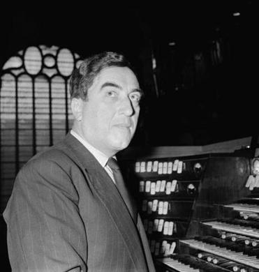 French organist and composer Maurice Duruflé in 1956.