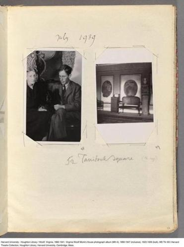 A snapshot of Virginia and Leonard Woolf is among the pictures in the novelist's photo albums.