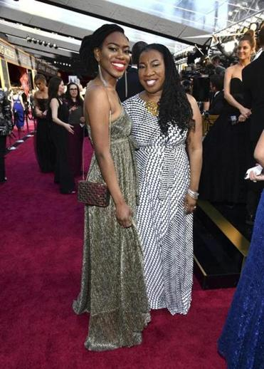 Kaia Burke, left, and Tarana Burke arrive at the Oscars on Sunday, March 4, 2018, at the Dolby Theatre in Los Angeles. (Photo by Charles Sykes/Invision/AP)