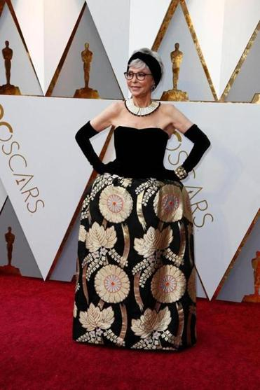 Mandatory Credit: Photo by MIKE NELSON/EPA-EFE/REX/Shutterstock (9448541kj) Rita Moreno Arrivals - 90th Academy Awards, Hollywood, USA - 04 Mar 2018 Rita Moreno arrives for the 90th annual Academy Awards ceremony at the Dolby Theatre in Hollywood, California, USA, 04 March 2018. The Oscars are presented for outstanding individual or collective efforts in 24 categories in filmmaking.