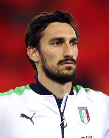 Mr. Astori, a defender, played 14 times for Italy's national team.