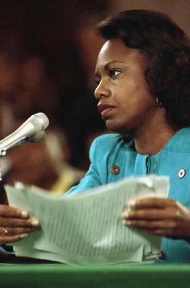 Anita Hill during Clarence Thomas's Supreme Court confirmation hearings