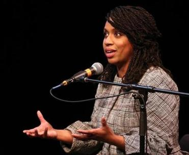 City Councilor Ayanna Pressley spoke at Emerson College in April.