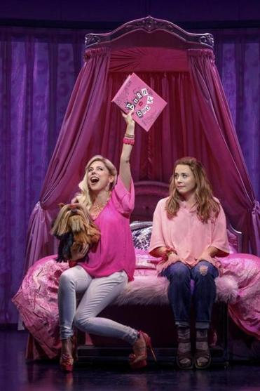 "Kerry Butler (left) and Erika Henningsen in ""Mean Girls,"" at August Wilson Theatre."