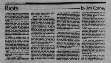 a look at some of james comeys clips from his college newspaper