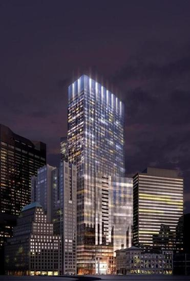 A rendering of the Winthrop Square tower.