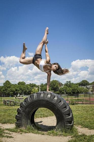 08namesninja -- Angela Gargano, who will be competing for a spot in the finals of American Ninja Warrior Season 10. (Ian Barnard)