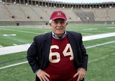 Developer Don Chiofaro, seen at Harvard Stadium, was captain of the Harvard football team in the fall in 1968.