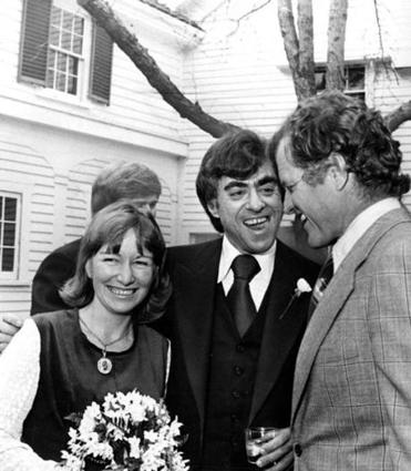 Senator Edward M. Kennedy of Massachusetts was among the political and literary luminaries who attended the wedding of Mr. Goodwin and Doris Kearns in 1975.
