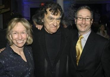 Mr. Goodwin (center) with his wife and Michael Maso in March 2009.