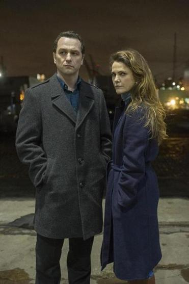 "Matthew Rhys and Keri Russell in a scene from the finale episode of ""The Americans."""