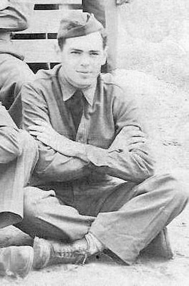 PFC Lawrence J. Curtin, just 18 when he went off to World War II.