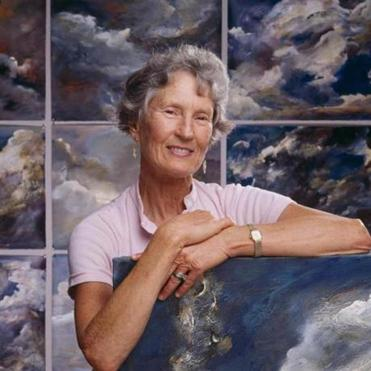 "Globe art critic Cate McQuaid wrote in 2002 that Mrs. Arnold ""paints with unyielding passion."""