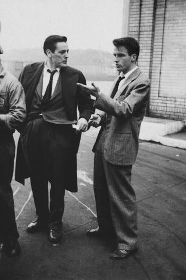"12kubrick Stanley Kubrick, Montgomery Clift with fellow actor Kevin McCarthy, from ""Montgomery Clift: Glamour Boy in Baggy Pants,"" 1949. Courtesy of the Museum of the City of New York / SK Film Archive, LLC"