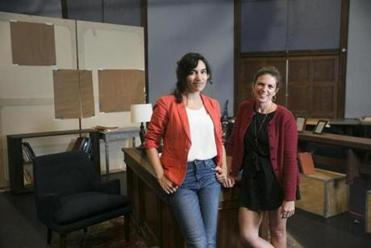 Playwright Eleanor Burgess (left) with director Kimberly Senior.