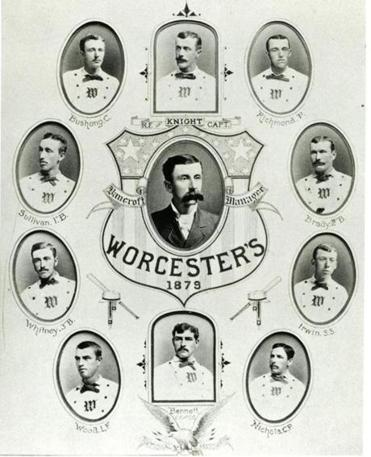 The Worcester Worcesters, the city's first professional baseball team.