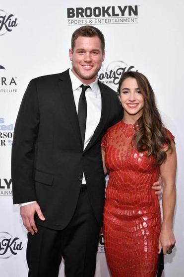 NEW YORK, NY - DECEMBER 12: Football Player Colton Underwood and Olympic Gymnast Aly Raisman attend the Sports Illustrated Sportsperson of the Year Ceremony 2016 at Barclays Center of Brooklyn on December 12, 2016 in New York City. (Photo by Slaven Vlasic/Getty Images for Sports Illustrated) 05namesBachelor