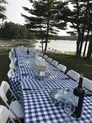Himmel Hospitality Group brought together Eventide Oyster Co. chefs and Winter Point Oyster Farm employees for dinner on Winter Point in Portland, Maine.