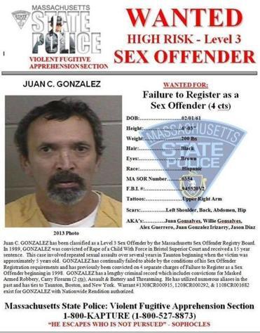 Massachusetts level 3 sex offenders