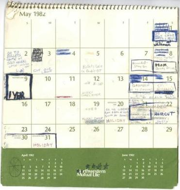 This image released by the Senate Judiciary Committee on Wednesday shows Supreme Court nominee Judge Brett Kavanaugh's calendar, from the summer of 1982.