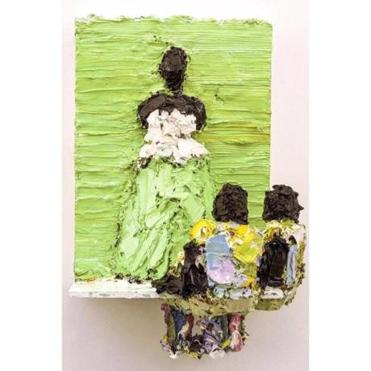 """Duchess in Green"" by Lavaughan Jenkins, one of four James and Audrey Foster Prize Artists."