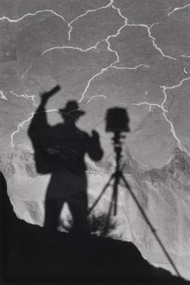 """Self-Portrait, Monument Valley, Utah"" by Ansel Adams"