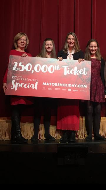 "Eva Furlong of Winchester (second from right) attended ""The Nutcracker"" with daughters Maya and Nina and sister-in-law Donna."