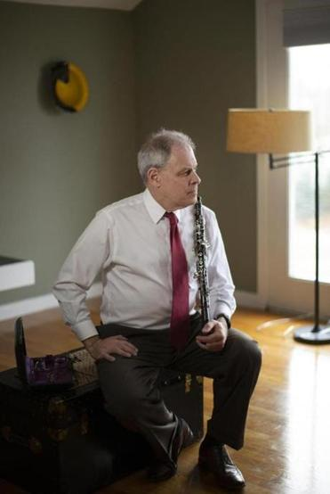 John Ferrillo, at home in Brighton, Mass., in November, is the BSO's principal oboe player and a close friend of Elizabeth Rowe's. He has expressed support for Rowe, who says she should be paid a salary equal to his. MUST CREDIT: Photo for The Washington Post by Katye Martens Brier