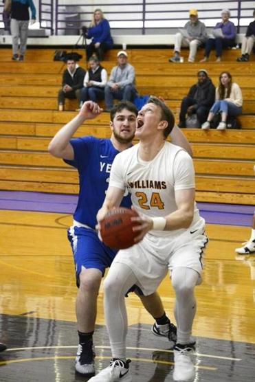 Williams College basketball player Matt Karpowicz of Wellesley.