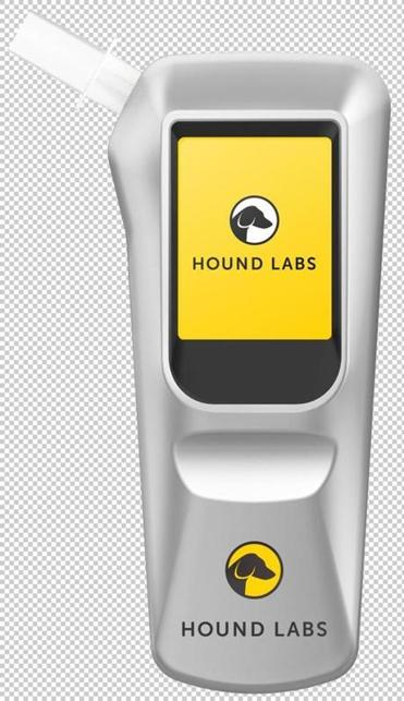 A breathalyzer for marijuana impairment that is being developed by Hound Labs, a company based in California.