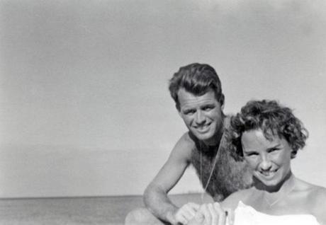Robert F. Kennedy (left) & Ethel Kennedy in Hawaii in 1950.