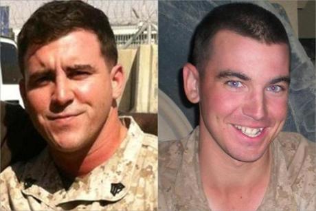 Sergeant Daniel Vasselian (left) and Lance Cpl. Matt Rodriguez.