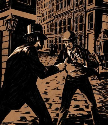 "Detective Starkweather confronts a con man so adept the newspapers dubbed him ""Dazzle."""