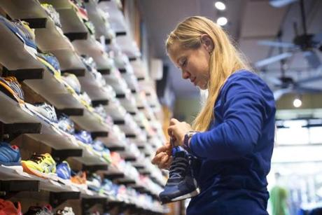 Megan Vigue, of Medford, is an employee at Marathon Sports in Boston.
