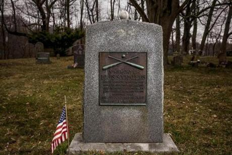 Indian Island, ME 4/21/17 11:26:55 AM The grave of Louis Sockalexis on the Penobscot Nation Indian Island Reservation in Indian Island, Maine, on Friday, April 21, 2017. Louis Sockalexis played baseball for Cleveland in the 1890s, and the Cleveland Indians' current logo is believed to be based on him. The Penobscot tribe wants the team to do away with the logo. (Sarah Rice for The Boston Globe)