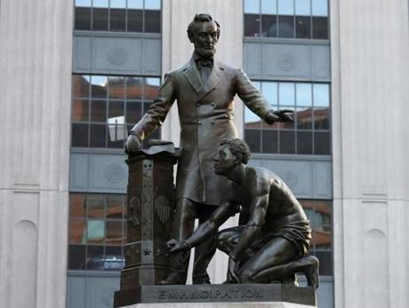 BOSTON, MA - 6/02/2017: Public art in and around Boston, Abraham Lincoln (1879, Thomas Ball, Park Square). (David L Ryan/Globe Staff Photo) SECTION: ARTS TOPIC 04TyColumn