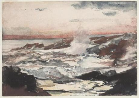 "Winslow Homer's ""Prout's Neck, Surf on Rocks.''"