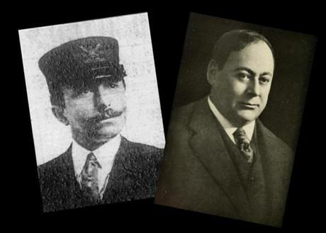 Special Agent Feri Weiss (left), of the Bureau of Investigation, remained hot on Karl Muck's tail. John Rathom (right), the editor of the Providence Journal, made a national name for himself through his aggressive coverage of suspected German spies.