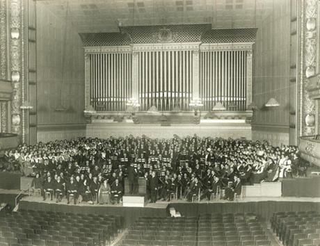 Hoping to get past the anthem controversy, Muck led his orchestra in a rehearsal on March 25, 1918 (above). After lunch with his wife and their friend Isabella Stewart Gardner, he resumed the punishing rehearsal. Unbeknownst to the conductor, federal agents were waiting for him.
