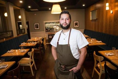 Executive chef Francisco Millan at Buttonwood in Newton.