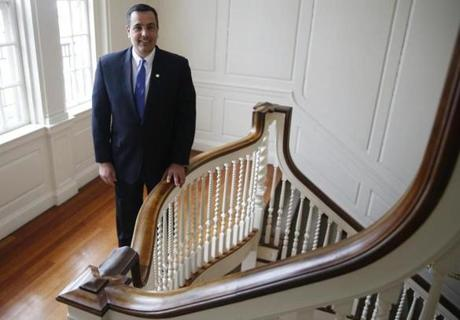 Newbury College president Joseph Chillo has a lot of sleepless nights.
