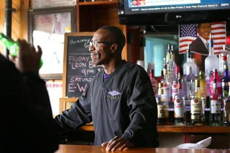 Walker's son, Gerry, has long been a fixture at the bar known as Boston's black Cheers.