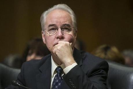 Former Health and Human Services Tom Price.