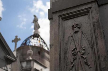 13muther An example of the elaborate architectire in the Recoleta Cemetary -- Photo credit is Tourism Buenos Aires.