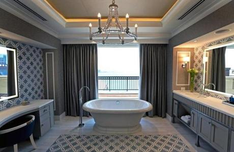 The master bathroom.