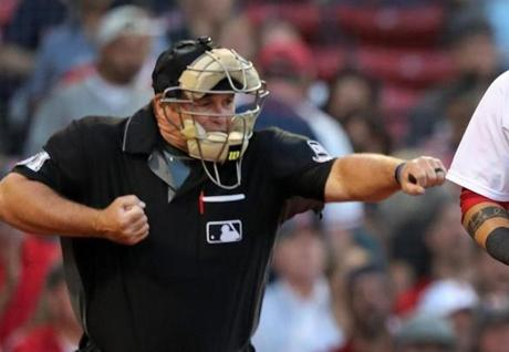 Home Plate Umpire Marvin Hudson Punched Out Rangers Hitter Joey Gallo During Wednesdays Game At Fenway